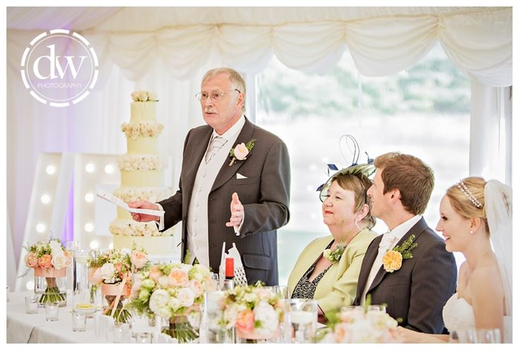 Wedding speeches at Chippenham Park, Cambridgeshire