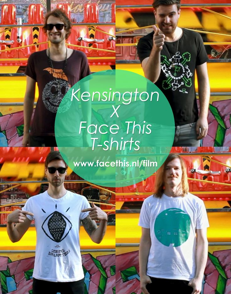 Kensington wearing our tees