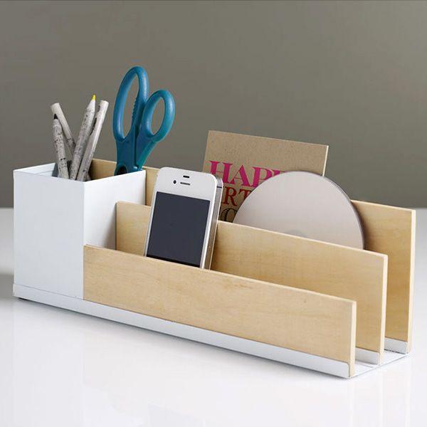 Modern Wooden Desk Caddy