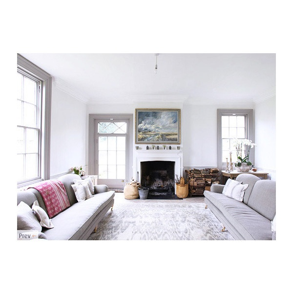 Paint Color Portfolio Pale Gray Living Rooms Apartment Therapy Liked On Polyvore