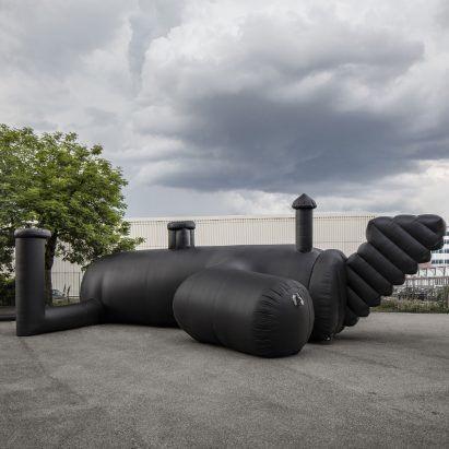 inflatable black nightclub