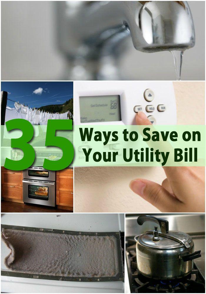 Energy Saving Tips - 35 Ways to Save Money on Your Utility Bills.