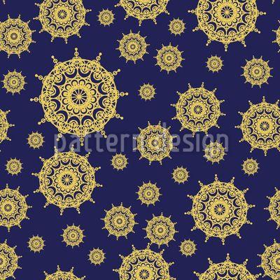 Mandala Star Repeat Pattern Repeat Pattern by Elena Alimpieva at patterndesigns.com