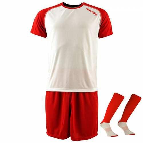 Prezzi e Sconti: #Sportika kit bianco / rosso mc  ad Euro 10.90 in #20489 #Abbigliamento gara completi