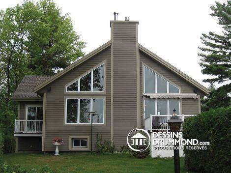 embellissement ext rieur et agrandissement d 39 un chalet existant renovation house exterior. Black Bedroom Furniture Sets. Home Design Ideas