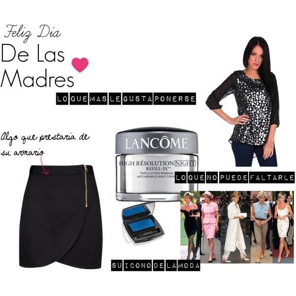 Madres by lilyflor on Polyvore featuring Romeo & Juliet Couture, Ted Baker and Lancôme