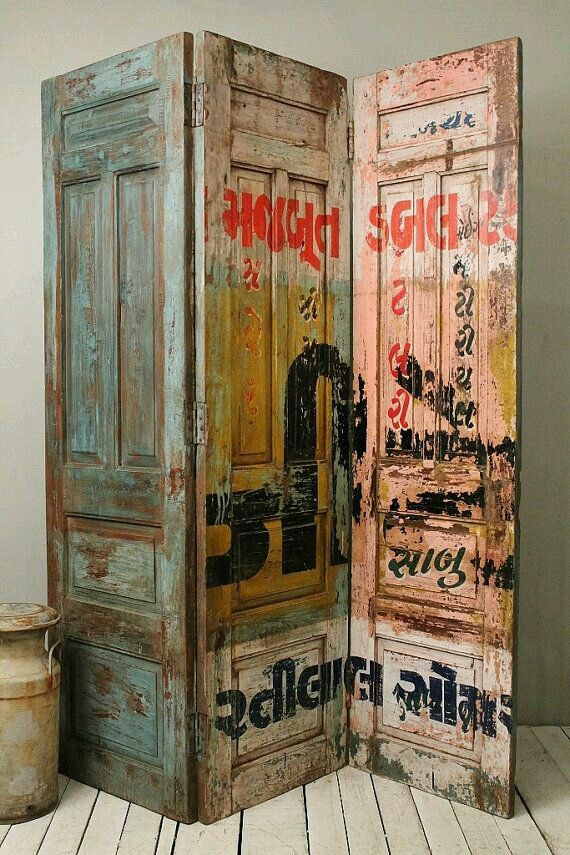 Reclaimed Doors hinged together...