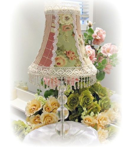 Lamp Shade Victorian Country Rose Design Shabby Cottage ...