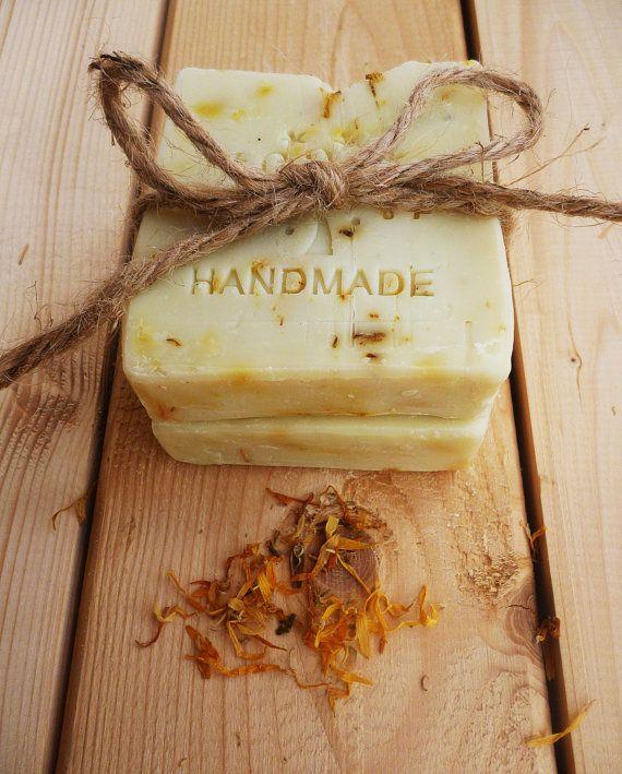 Handmade Calendula soap bar  Organic soap bar  by StarSoapsbyIvana