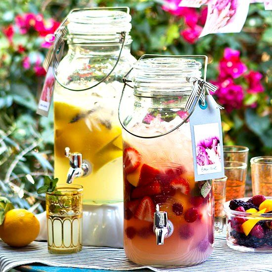 Sangria from baverage dispenser for my summer garden party