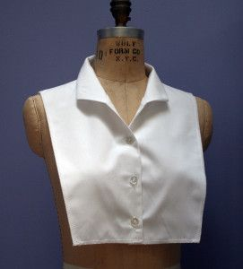 Shirt collar front dickie - tutorial and free pattern