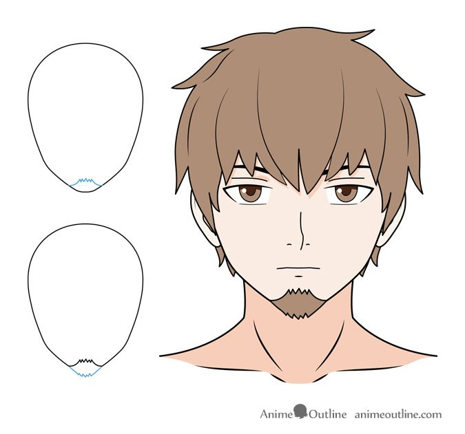 How To Draw Anime Facial Hair Beards Mustaches Anime Drawings
