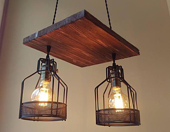 Mejores 47 imgenes de industrial pendant lights en pinterest unique pendant light wood chandelier rustic ceiling light aloadofball Choice Image