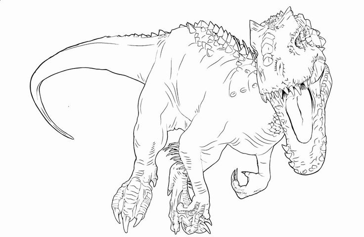 28 Indominus Rex Coloring Page in 2020 | Coloring pages ...