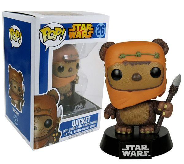 This must be in our collection... for Eric's sake. Funko POP Star Wars Wicket Bobble Figure