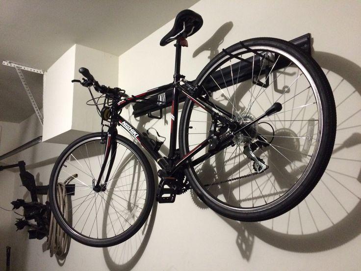 Garage Bike Racks Diy Using Kobalt K Rail And Hook Storage