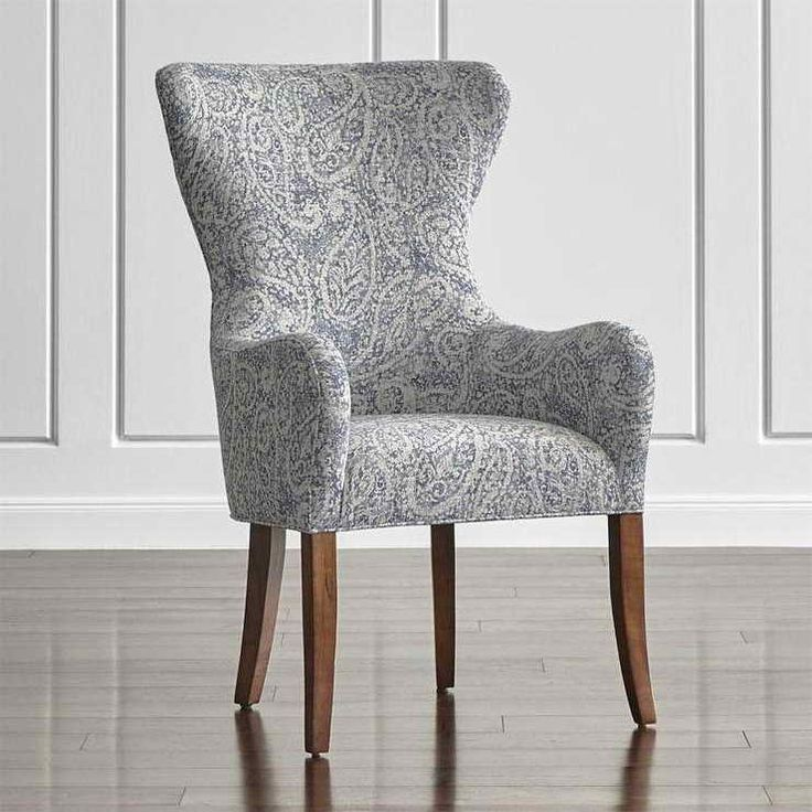 Adele Smoke Blue Dining Chair | Wingback dining chair ...