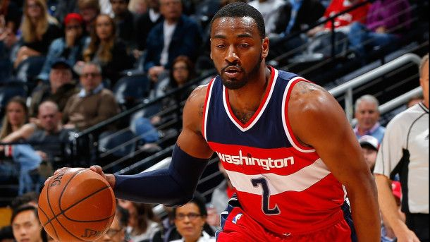 #NBA  ATLANTA, GA - MARCH 21:  John Wall #2 of the Washington Wizards looks to drive against the Atlanta Hawks at Philips Arena on March 21, 2016 in Atlanta, Georgia.  NOTE TO USER User expressly acknowledges and agrees that, by downloading and or using this photograph, user is consenting to the terms and conditions of the Getty Images License Agreement.  (Photo by Kevin C. Cox/Getty Images)