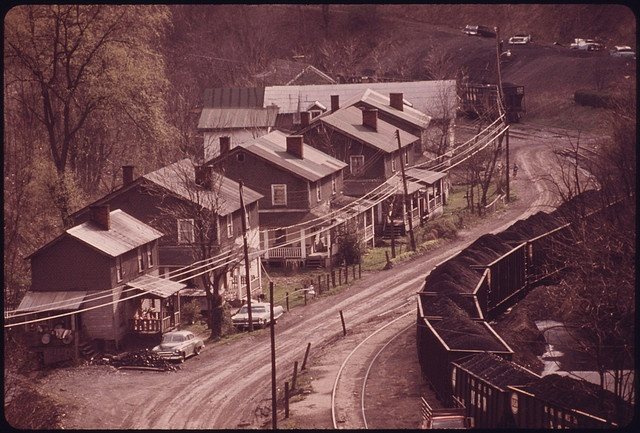 Closeup of an Old Coal Company Mining Town of Red Ash Virginia, near Richards in the Southwestern Part of the State 04/1974 by The U.S. National Archives, via Flickr