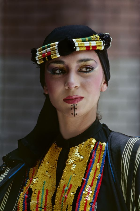 Portrait of a woman from Iraq... sense of style a different world from the Western Society.