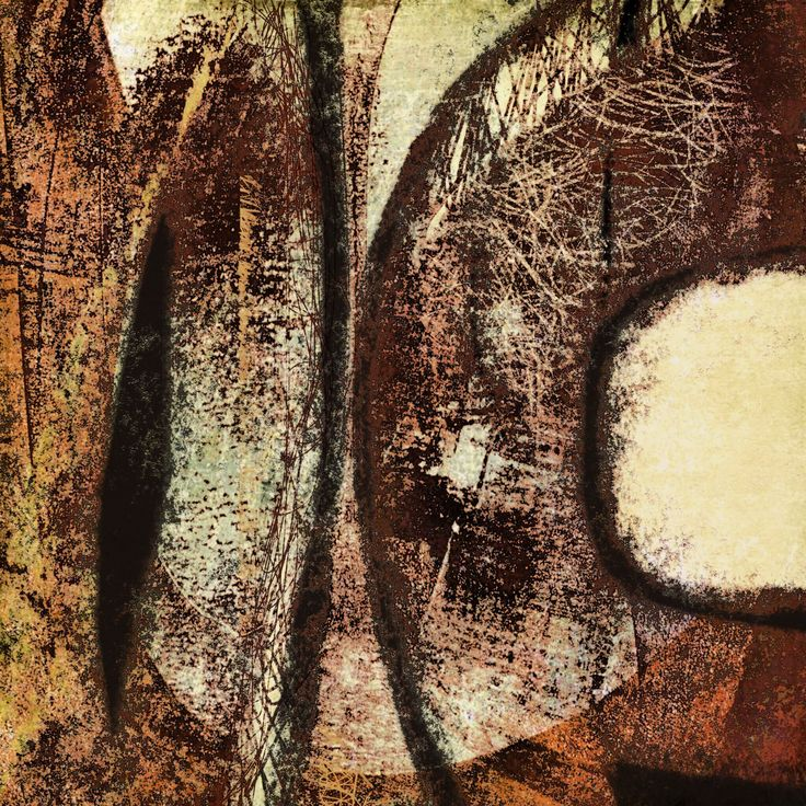 The Old Cells Studio - Michèle Brown Art: I see - iPad drawing over monoprint