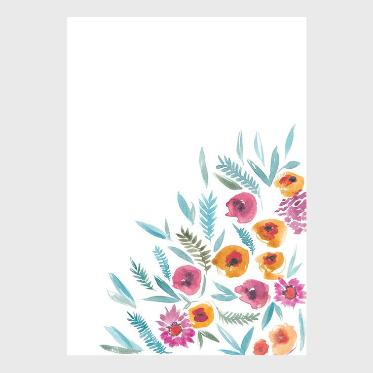 Spring Corner - Sarah Jager Design #floralprint #pastelprint
