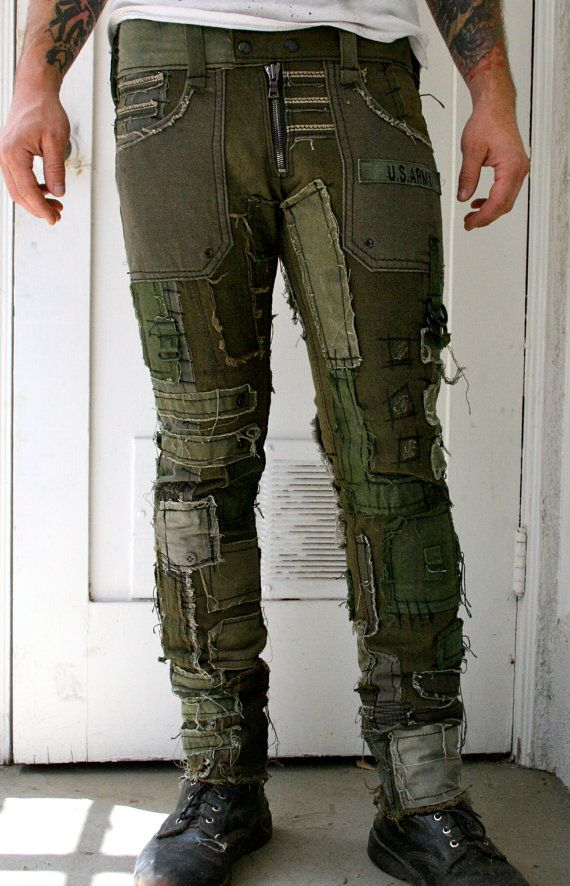 Armee-Hosen von BoneBlack auf Etsy
