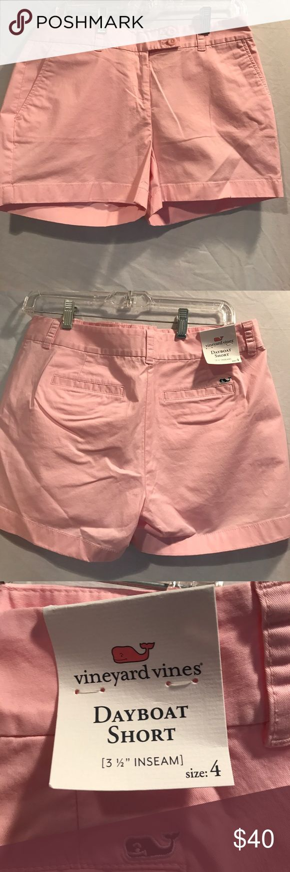 Vineyard Vines dayboat shorts Vineyard Vines Dayboat shorts. New with tags! Color-light pink. Size-4 Vineyard Vines Shorts