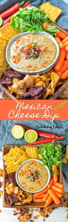 My new Mexican #Cheese #Dip is #vegan and #glutenfree. It has full flavor with a note of cloves and comes together from just 5 ingredients and in 2 easy steps. #condiment #snack