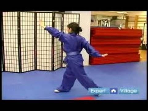 Beginner Wushu Techniques : How to Do the Wu Long Pan Da Technique in Wushu