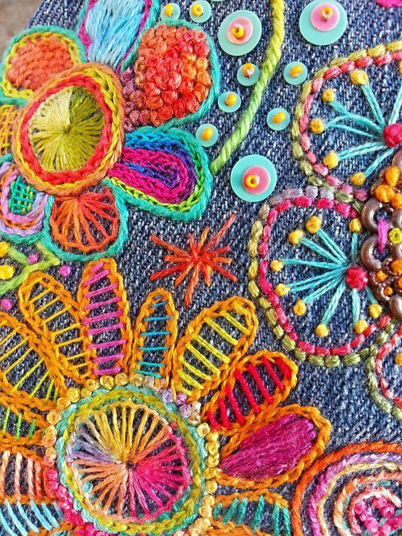 Hand stitch embroidery