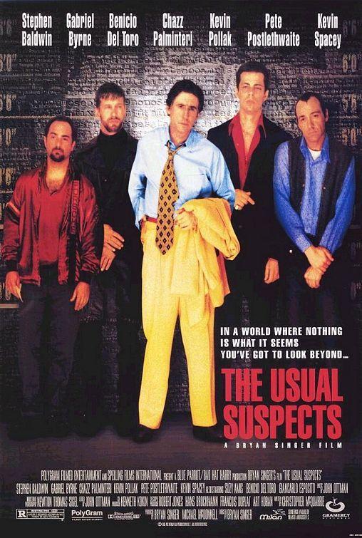 """The Usual Suspects"" > 1995 > Directed by:Bryan Singer > Crime / Thriller / Crime Thriller / Ensemble Film / Post-Noir"