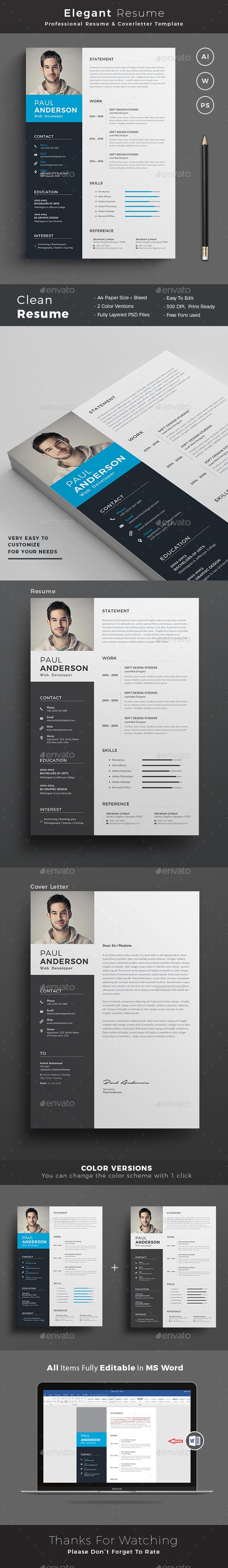 Word Cv Templates 2007%0A Resume Template PSD  AI  MS Word