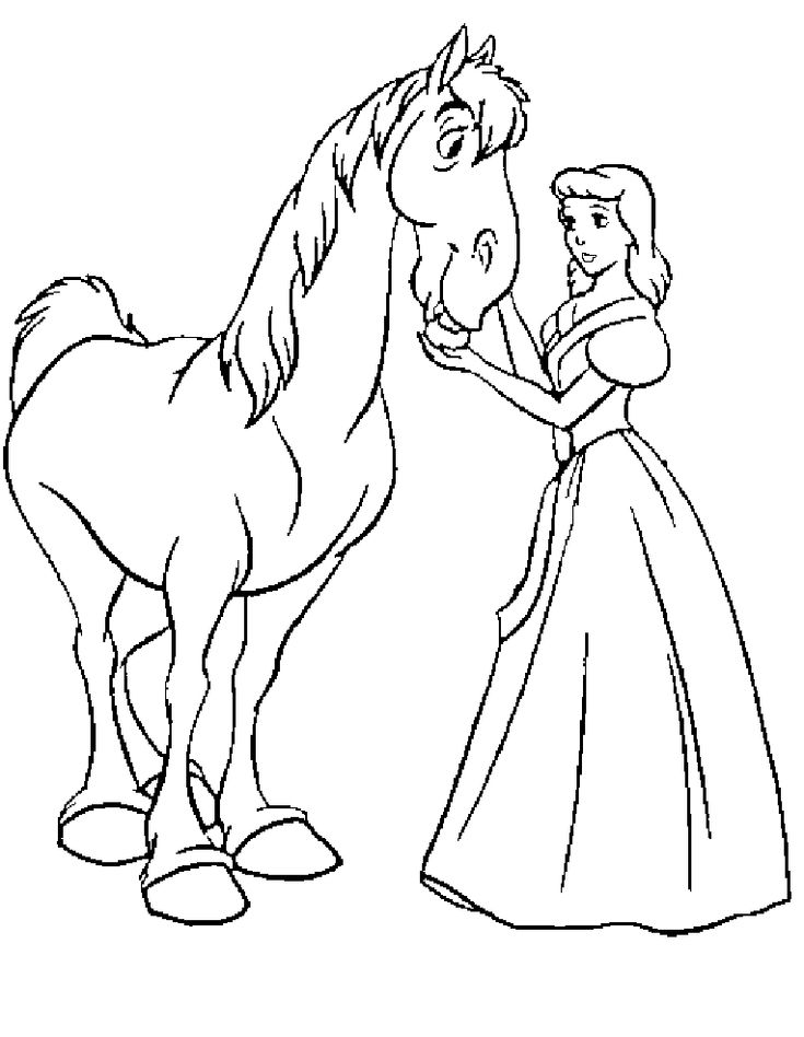 37 Best Cinderella Coloring Pages Images On Pinterest