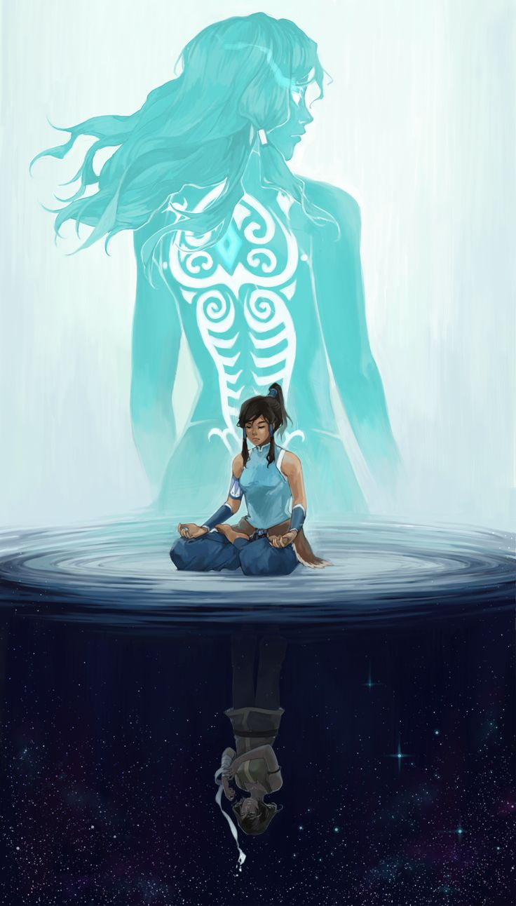 crys-sketchblog:  So yeah here's the full illustration of Korra I've been working on some weeks ago! I had lots of theories as to why I chose to draw all her versions this way, but I already forgot most of them LOL so just hope you enjoy anyway uvu