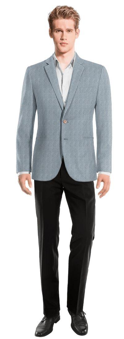 Blue striped linen Blazer - https://www.tailor4less.com/en/men/blazers/4648-blue-striped-linen-blazer