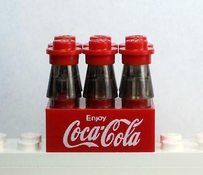 NEW Lego Food Soda ~ COKE, COCA-COLA 6 pack NO DECALS!!