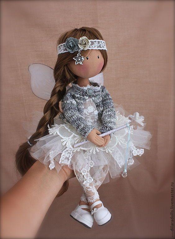 Коллекционные куклы ручной работы. Ярмарка Мастеров - ручная работа текстильная кукла  ЛИКА. Handmade.