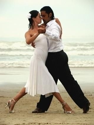 nothing like dancing tango on the beach with the waves as the music...