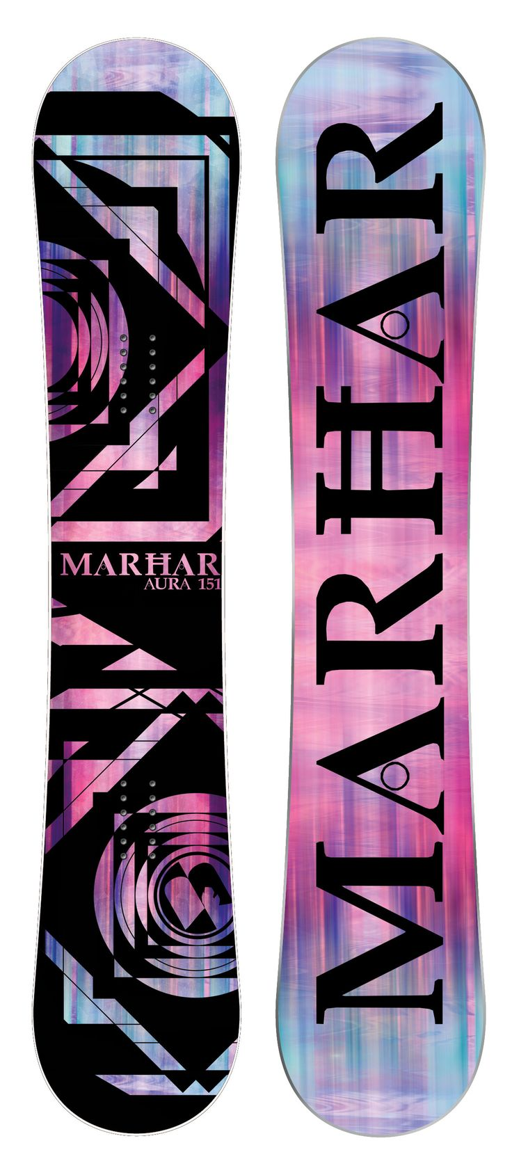 AURA [All Terrain Queen] This Queen of the mountain features our Rocker profile with a flex pattern perfect for a balanced all terrain freestyle deck. The Aura has surfy and smooth edge to edge transitions with serious edge hold from the Attack Arc sidecut. This versatile board does it all from park to powder to groomers. It has power, stability, and pop with the perfect amount of flex for the serious lady rider looking for a one quiver board. #snowboard #snowboarding #snow #ride #womens…