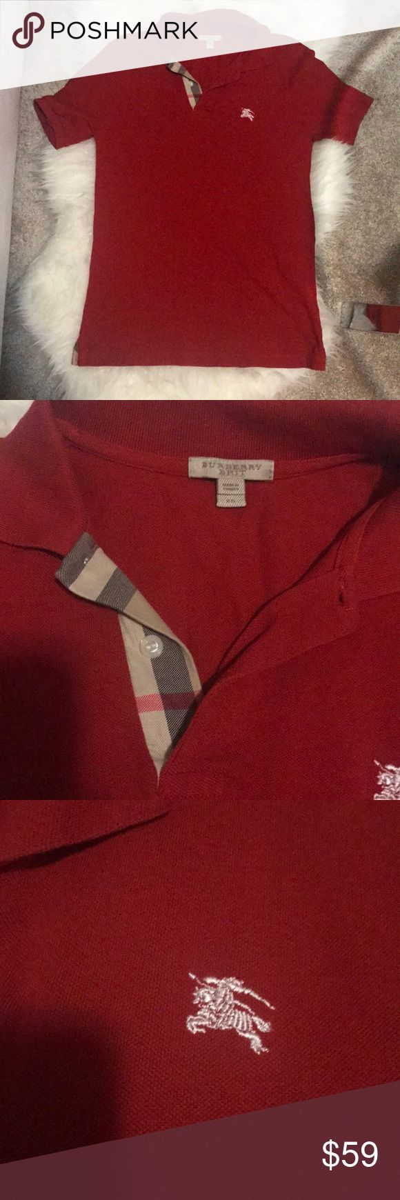 Red BURBERRY for MEN size XS Very good condition . No stain or holes Burberry Shirts Polos