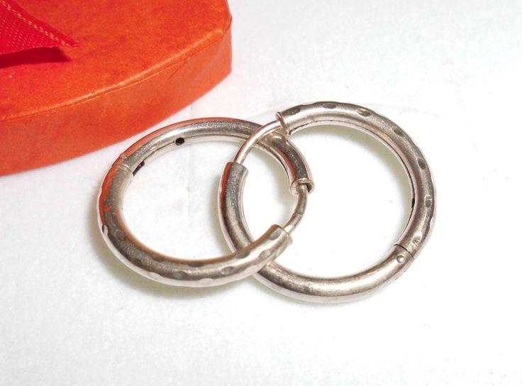 Vintage Ohrhänger - 925er Silbercreolen Creolen Ohrringe  rund SO156 - ein Designerstück von Atelier-Regina bei DaWanda