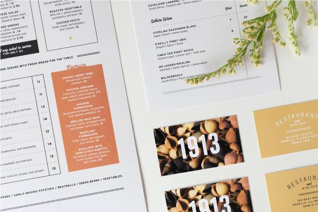 1913 Menu + Build-Out | by Breanna Rose