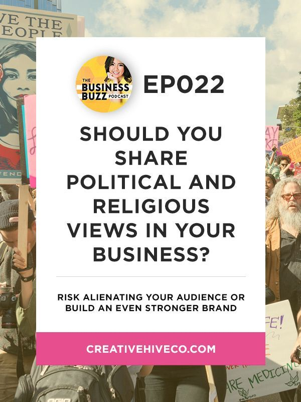 Should You Share Political/Religious Views in Your Business? // Mei Pak -  Creative Hive