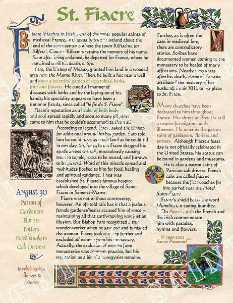 "Our St. Fiacre ""Scroll"""