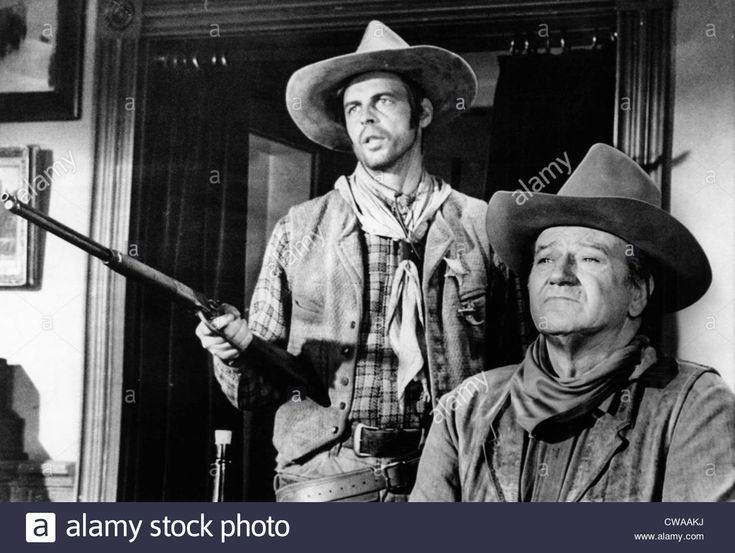 Rio Lobo, George Plimpton, John Wayne, 1970.. Courtesy: Csu Archives Stock Photo, Royalty Free Image: 50015046 - Alamy