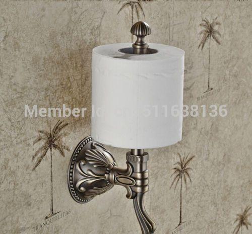 Настенный Ванная Комната Тиснением Античная Бронзовая Держатель Туалетной Бумаги Бар Держатель