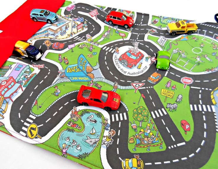 ROLL UP CAR MAT  $34.00  What little boy and girl doesn't just love to play with cars... from matchbox to hot wheels and everything in between this roll up car mat is perfect for keeping them entertained.    Especially designed for fun, these portable play mats are large enough (approx 63 x 43cm) to have 2 children playing on them, but small enough to roll up with cars in their 'garages' and pop into mum's handbag when it is time to pack up.