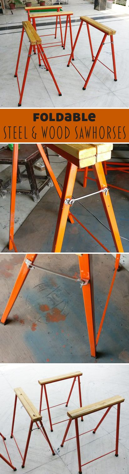 Wm301 Chair Rail Part - 49: DIY Foldable Steel And Wood Sawhorse Build