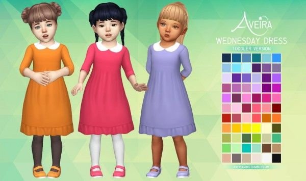 Aveira Sims 4: Wednesday Dress for toddlers • Sims 4 Downloads